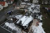 Ein Überblick: So sieht das zerstörte Haus von oben aus.