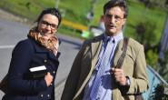 Sie verkünden Gottes Wort: Hanna Schlöffel und ihr Vater Friedhelm sind Zeugen Jehovas. 70 Stunden pro Monat investieren beide pro Monat ins Predigen. Fotos: Auel