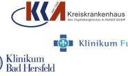 Sollen bald fusionieren: Die drei Krankenhäuser von Fulda, Bad Hersfeld und Alsfeld. Montage: jal