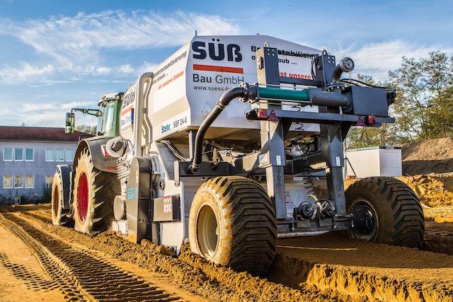 Made in Storndorf: Diese Bodenfräse der Firma Stehr kam beim Umbau des Porschewerks in Leipzig zum Einsatz. Foto: privat
