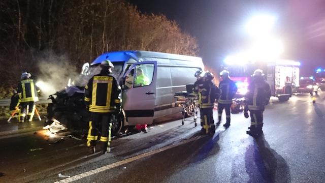 Unfall auf der A5: Ein Kleintransporter ist verunglückt. Foto: privat