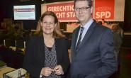 Wollen mehr Geld für hessische Kommunen: Generalsekretärin Nancy Faeser und Landes- und Fraktionschef des Hessen-SPD Thorsten Schäfer-Gümbel. Fotos: jal