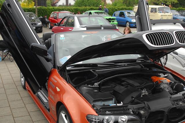 Auffallen ist das was zählt: 350 Autos stellten Tuningfreunde dieses Wochenende in Angersbach aus. Fotos: awh