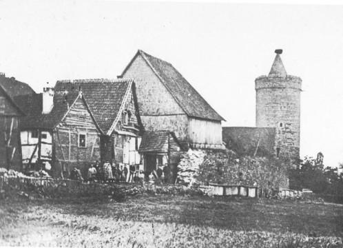 OL-Altes-Alsfeld-klostermauerweg-Leonhardsturm-ca-1893