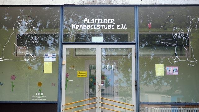 Wird so wie es aussieht nicht für einen Neubau geschlossen: Die Krabbelstube Flohhütte. Archivfoto: aep