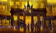 Wirken fremd, und doch vertraut: Die Bilder des Foto-Künstlers Werner Eismann sind ab Freitag im Homberger Schloss zu sehen. Dieses Bild des Brandenburger Tors trägt den Namen BERLIN HOT NIGHT 25 GRAD.