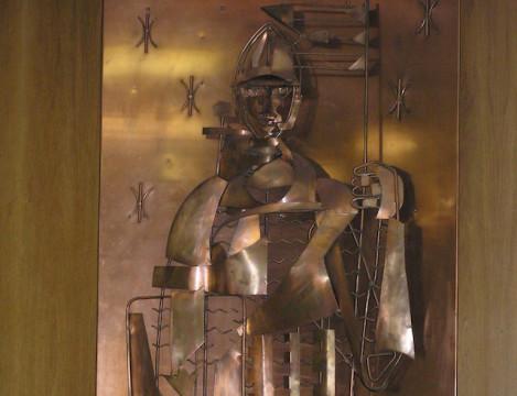 Soll ein neues Zuhause finden: Eine Figur des heiligen Simplicius.