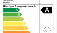 Zeigt an, welche Geräte sparsam sind: Ein Aufkleber mit den Energie-Effizienz-Klassen der EU. Foto: privat