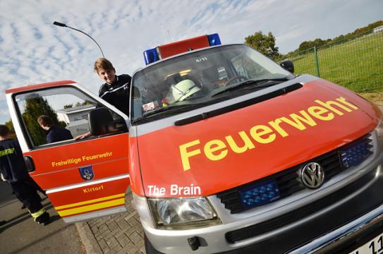 Gab es auch beim DRK-fest zu sehen: Wagen der Kirtorfer Feuerwehr.
