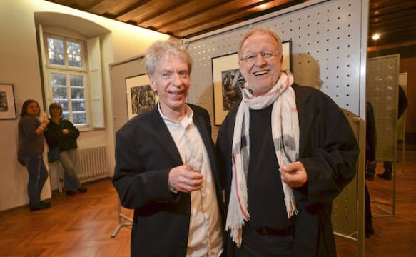 Sind gute Freunde: Lucky Mondschein und der gebürtige Alsfelder National Geographic-Fotograf Gerd Ludwig.