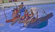 Wann ahoi! Ungefähr 30 Teams gingen bei der Badewannen-WM in Lauterbach an den Start. Fotos: jal