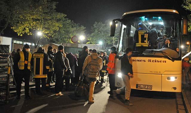 Bilder eines historischen Ereignisses: Ankommende Flüchtlinge in Alsfeld.