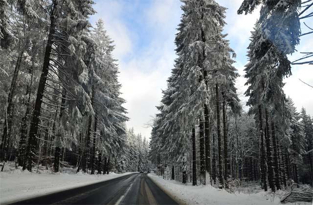 Winterliche Glitzerlandschaft lädt zum Skifahren oder eben auch Mountainbike ein. Foto: archiv/aep