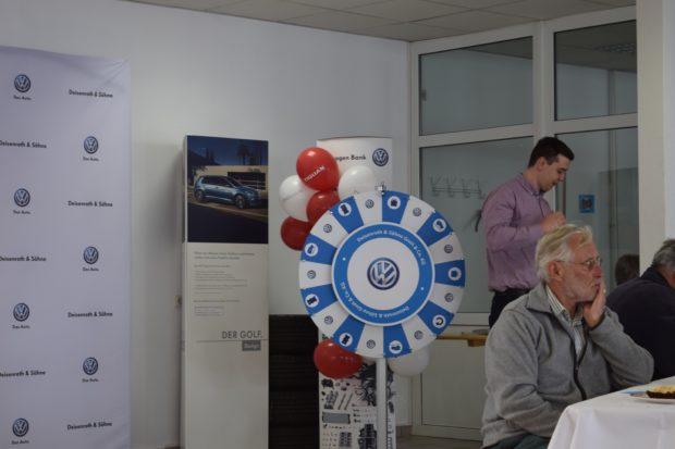 Auch auf dem Volkswagenfest wurden wieder einige Preise verspielt. Mit viel Glück konnte man einen neuen Tiguan gewinnen. Foto: ls