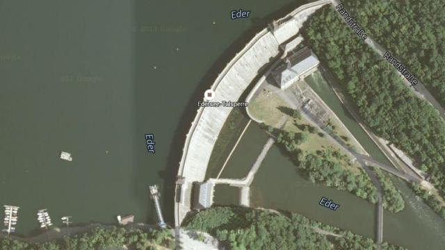 Ort des Unglücks: Der Edersee. Hier ist ein Alsfelder mit seinem Elektroboot gekentert. Kartendaten: Google, DigitalGlobe
