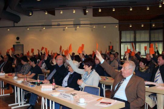 Einstimmig votierten die Delegierten für den Koalitionsvertrag. Foto: CDU Vogelsberg
