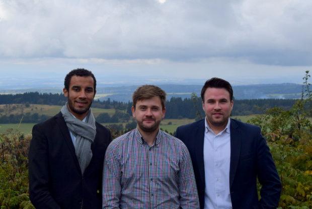 Die neuen Betreiber des Restaurant Talblick: Eugene Battle, Stephan Krause und Mario-Sebastian Fertig (von links).