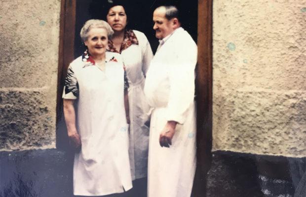 Das Dreigestirn: Mariechen (Frau Lahl), Tilli und Rudolf