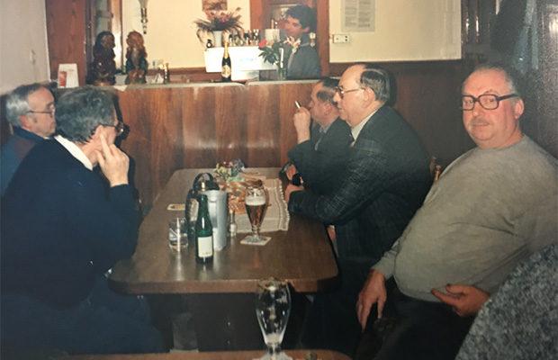 Stammtisch Knierim auch nach 1986 (Werner Weitzel, Friedel Stoll, Heinz Buchhammer, Rudolf Knierim, Hr. Schmidt, Hr. Schneider