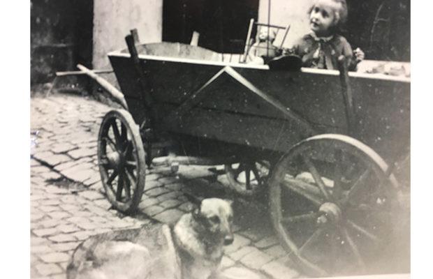 Edith und Hund Hasso