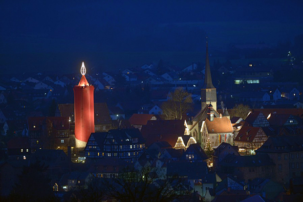 Wo Ist Der Größte Weihnachtsmarkt.Rentiere Am Weihnachtsmarkt In Schlitz Oberhessen Live