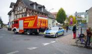 Der abgesperrte Tatort in Alsfeld. Foto: ol