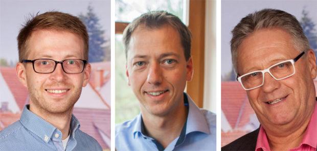 Wollen für die CDU in den Landtag: Michael Ruhl, Alexander Heinz und Dieter Boß. Fotos: CDU; Montage: OL