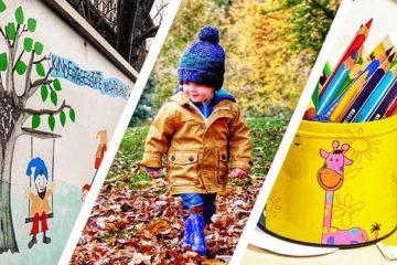 Wo soll der Kita-Neubau hin? Zwischen dem Elternbeirat der Kita Wichtelland (links) und der Stadt kriselt es. 1. Foto: ol, 2./3. Foto: pixabay; Montage: ol
