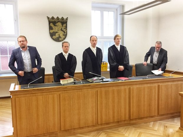Die Richter kurz vor der Urteilsverkündung.