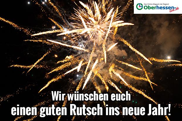 Oberhessen-live wünscht einen guten Rutsch ins neue Jahr ...
