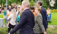Bundeskanzlerin Angela Merkel bei einem Wahlkampfauftritt 2017 in Norddeutschland.