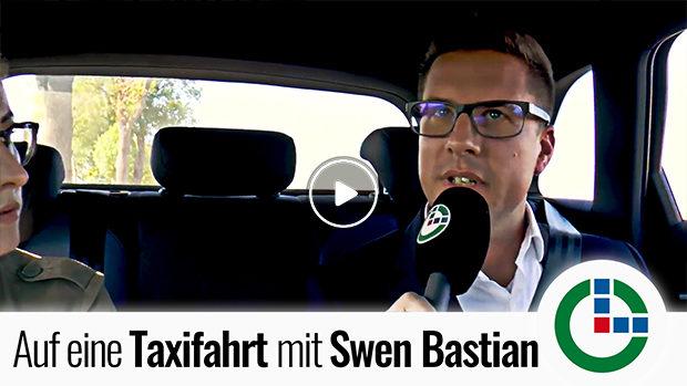 Willkommen zur Taxifahrt mit OL, Swen Bastian!